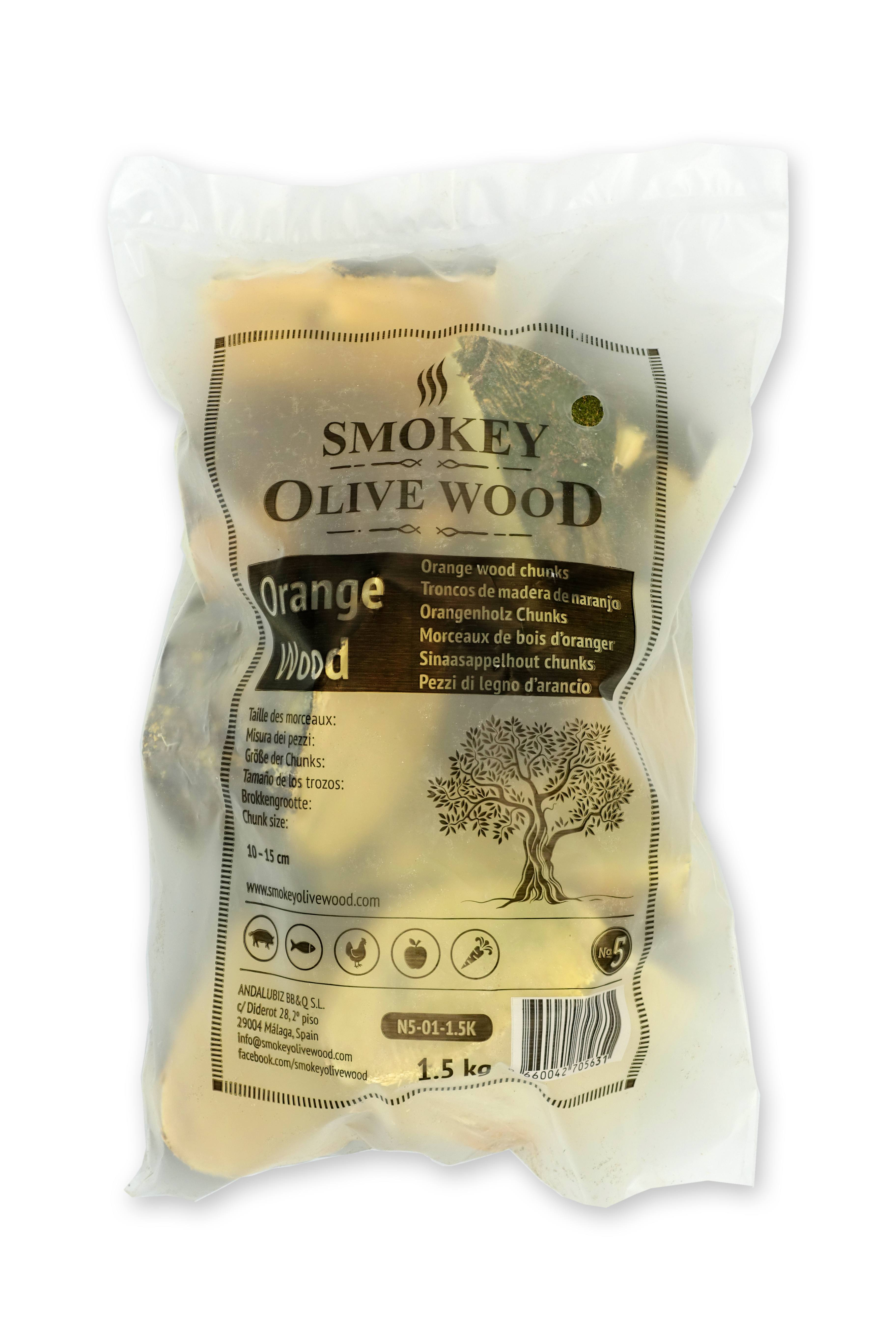 Rookchunks_nr5_1,5kg_sinaasappel_Smokey_Olive_Wood
